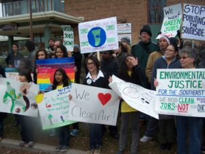 Protesting against proposed coal gasification plant